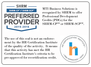 MTI Business Solutions HRCI SHRM